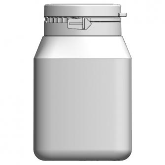 BIO-125 方形原封掀蓋瓶